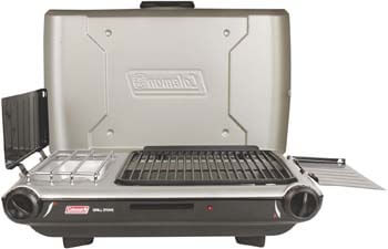 9. Coleman Gas Camping Grill/Stove | Tabletop Propane 2-in-1 Grill/Stove, 2 Burner