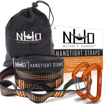 3. HangTight Hammock Straps with Carabiners
