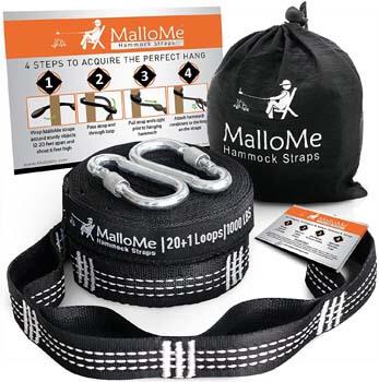4. MalloMe XL Hammock Straps