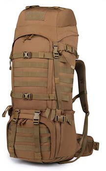 8. Mardingtop 65+10L/65L Molle Hiking Internal Frame Backpacks with Rain Cover