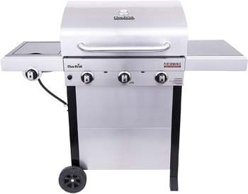 2. Char-Broil 463370719 Performance TRU-Infrared 3-Burner Cart Style Gas Grill, Stainless Steel