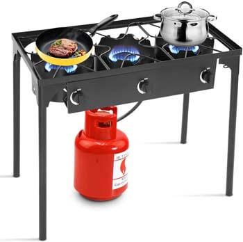 5. Goplus Outdoor Stove Portable Propane Gas Cooker