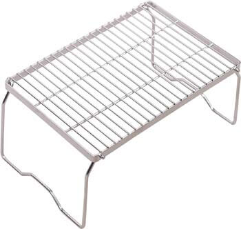 1. REDCAMP Folding Campfire Grill 304 Stainless Steel Grate