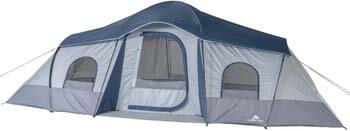 6. Ozark Trail 10 Person Tent 3 Rooms 20 X 10