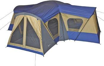 9. Ozark Trail Base Camp 14-Person Cabin Tent (Blue)