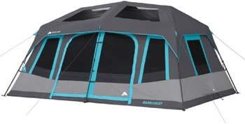 8. Ozark Trail 10-Person Dark Rest Instant Cabin Tent