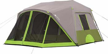 2. Ozark Trail 9-Person Instant Cabin Tent Camping Outdoors Family