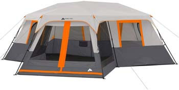 7. Ozark Trail 12-Person 3-Room Instant Cabin Tent with Screen Room (Orange)