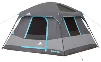 4. 10' x 9' Ozark Trail Six-Person Dark Rest Cabin Family Camping and Adventure Tent