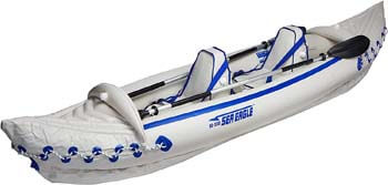 8. Sea Eagle 330 Pro 2 Person Inflatable Sport Kayak Canoe Boat with Pump and Oars