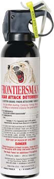 1. SABRE Frontiersman Bear Spray 9.2 oz. (Holster Options & Multi-Pack Options)