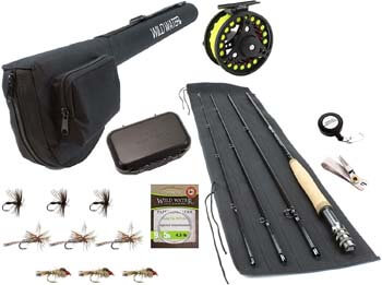 8. Wild Water Fly Fishing 9 Foot, 4-Piece, 5/6 Weight Fly Rod