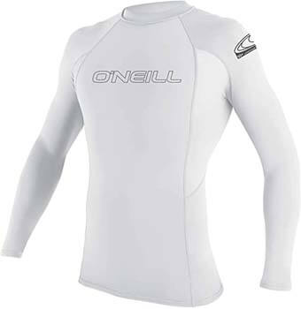 10. O'Neill Men's Basic Skins UPF 50+ Long Sleeve Rash Guard