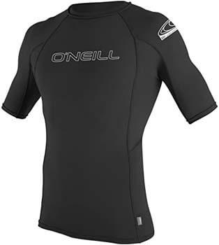 4. O'Neill Men's Basic Skins UPF 50+ Short Sleeve Rash Guard