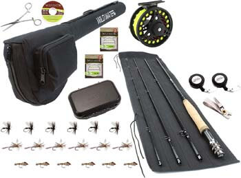 10. Wild Water Fly Fishing 9 Foot, 4-Piece, 5/6 Weight Fly Rod