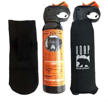 9. Udap 2 Personal Defense Bear Sprays w/Holsters 12VHP