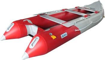 6. BRIS 14.1 FT Inflatable Kayak Fishing Tender Inflatable Pontoon Boat with Air Floor