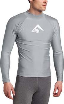 2. Kanu Surf Men's Long-Sleeve Platinum UPF 50+ Rashguard