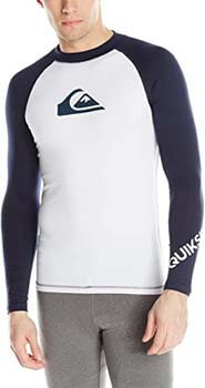 6. Quiksilver All Time Long Sleeve Rashguard Swim Shirt UPF 50+