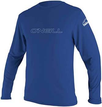 1. O'Neill Wetsuits Men's O'Neill Basic Skins UPF 50+ Long Sleeve Sun Shirt