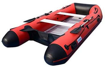 4. BRIS 12ft Inflatable Boat Inflatable Raft Sport Rescue Diving Boat Fishing Dinghy Tender Pontoon