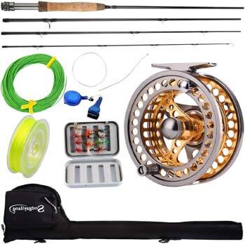 6. Sougayilang Fly Fishing Rod Reel Combos