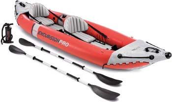 2. Intex Excursion Pro Kayak, Professional Series Inflatable Fishing Kayak