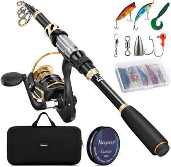 7. Magreel Telescopic Fishing Rod and Reel Combo